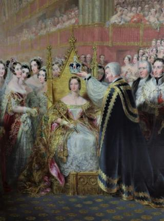 Detail of the Coronation of Queen Victoria by Edmund Thomas Parris (1793-1873)