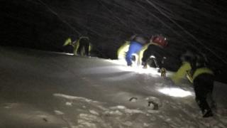 Lochaber MRT on a rescue
