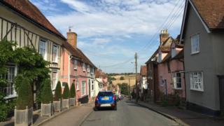 A street in Lavenham