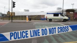 Police cordon around Manchester Arena