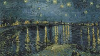 《羅納河上的星月夜》( Starry Night Over the Rhone)