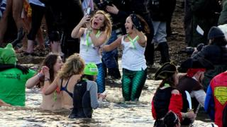 Loony Dook at South Queensferry