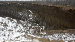 Почва здесь круглый год находится в замерзшем состоянии