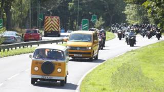 Parys Lapper funeral convoy