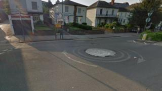 The roundabout between Combe Street and Marlowes