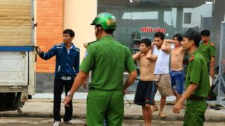 Authorities re-arrest suspected drug addicts who escaped from a compulsory rehabilitation centre in Dong Nai, Vietnam. 24 October 2016
