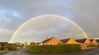 in_pictures Double rainbow over Hanthorpe in Lincolnshire