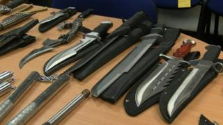Knives seized by police