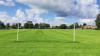 Football pitch in Coity, Bridgend