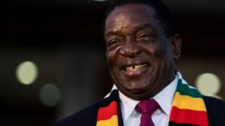 Emmerson Mnangagwa pictured on 3 August 2018.