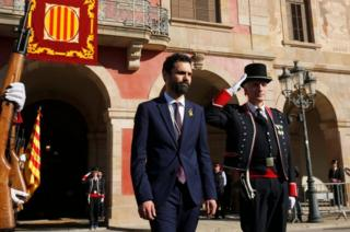 Newly elected parliament speaker Roger Torrent on 17 January 2018 in Barcelona