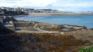 Gent's pool at the Bathing Pools, Guernsey