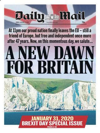 Friday's Daily Mail front page