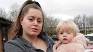 Aiysha with her daughter Aurora