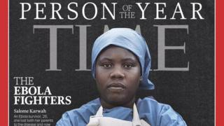 Front cover of Time Magazine with Person of the Year 2014