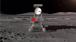 Chang'e-4 rover shown on Chinese state media