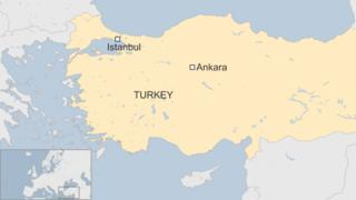 A BBC map of Turkey showing the locations of Ankara and Istanbul