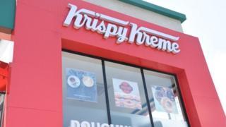 Front of Krispy Kreme shop