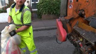 Bin lorry in Cardiff