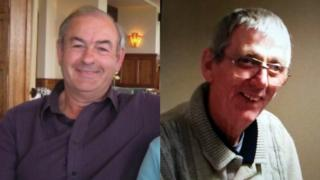 Ray Hymas, left, and Terry Driffield went missing on Thursday when their light aircraft disappeared