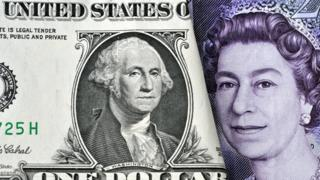 Dollar and £20 note