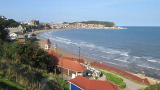 View from Scarborough's South Cliff Gardens looking towards the town
