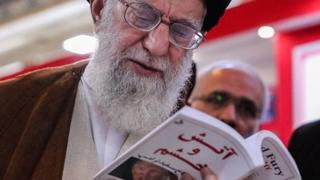 Ayatollah Ali Khamenei reading Fire and Fury