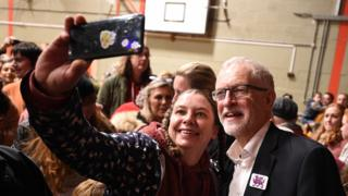 Jeremy Corbyn at a rally in Colwyn Bay last weekend