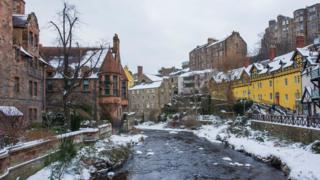 Water of Leith in Dean Village, Edinburgh