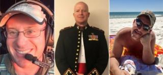 Victims Ian McBeth, Paul Clyde Hudson and Rick A DeMorgan Jr