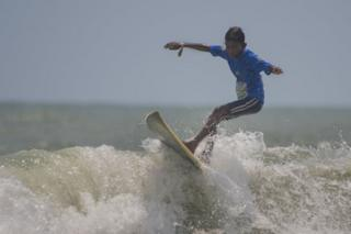 Akhilan DancingOnTheWaves At IndianOpen Of SurfingFestival