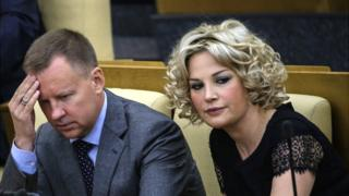 Денис Вороненков и его супруга Мария Максакова
