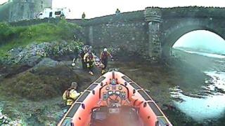 Lifeboat at Eilean Donan Castle