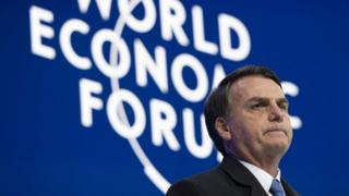 Brazil's President Jair Bolsonaro at the World Economic Forum