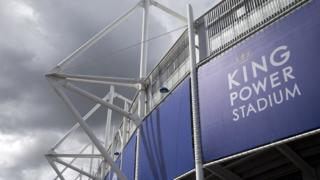 Exterior of Leicester's King Power Stadium