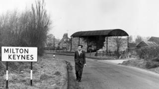 Milton Keynes in February 1967