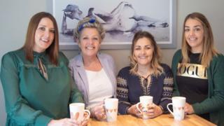 The Mehaffy sisters Kim Murdock, Kellie Mehaffy and Sara Mehaffy, with their mother Deborah Mehaffy