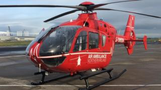 The air ambulance arrived in Belfast last week
