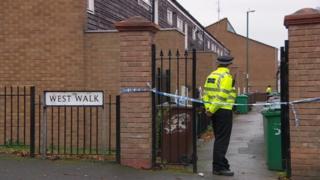 Police cordon in West Walk, Sneinton