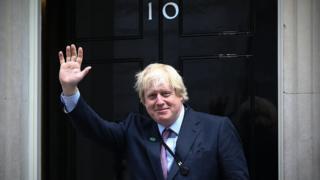 Boris Johnson arriving at Downing Street in May 2015