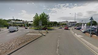 roundabout in Haverfordwest