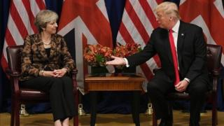 Theresa May và Donald Trump