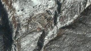 Спутниковый снимок ядерного полигона Пунгери в Северной Корее