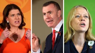 Jo Swinson, Adam Price and Sian Berry