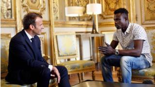 Macron and Gassama