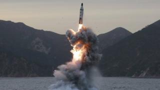 صاروخ من كوريا الشمالية