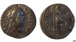 Denarius of Emperor Tiberius, AD14-37