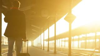 Man standing at station