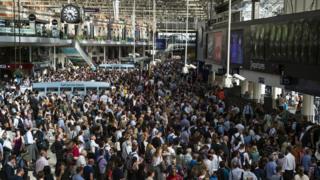 Waterloo station crowds