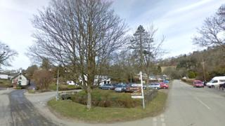 The centre of Exmoor village Winsford